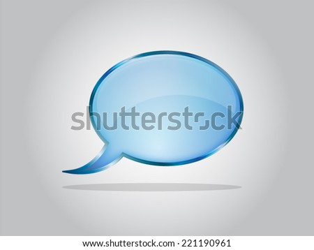 Abstract glossy speech bubbles - blue - stock vector