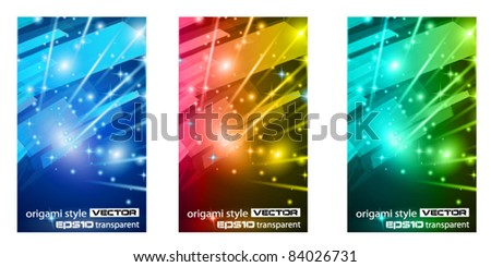Abstract Glow of lights for Business or Corporate Flyers background. - stock vector