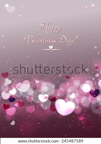 Abstract Glow Soft Hearts for Valentines Day . Vector and raster. - stock vector