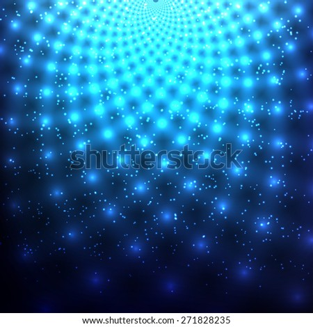 Abstract glowing background with light spots. Vector illustration - stock vector