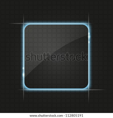 Abstract glowing figure background with light - stock vector