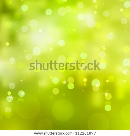 Abstract glowing light on a green background. And also includes EPS 8 vector