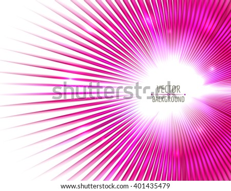 Abstract glowing on white background. Bright light abstract effect. Vector target abstract. - stock vector