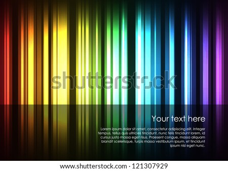 Abstract glowing stripes of different colors form the full spectrum of colors. EPS10 vector background. - stock vector
