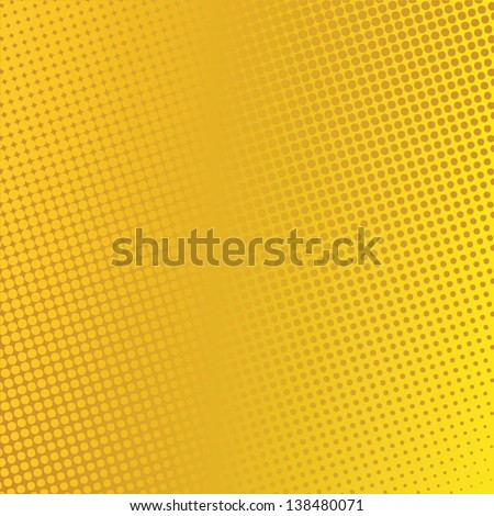 Abstract gold background with dots. Halftone effect, vector illustrations - stock vector