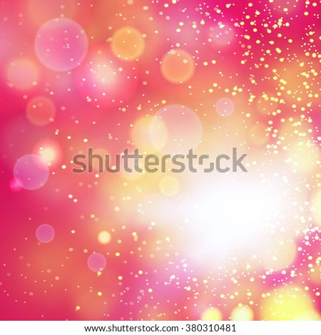 Abstract gold bokeh background. Vector illustration