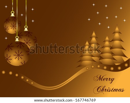 Abstract gold christmas baubles background with room for text - stock vector