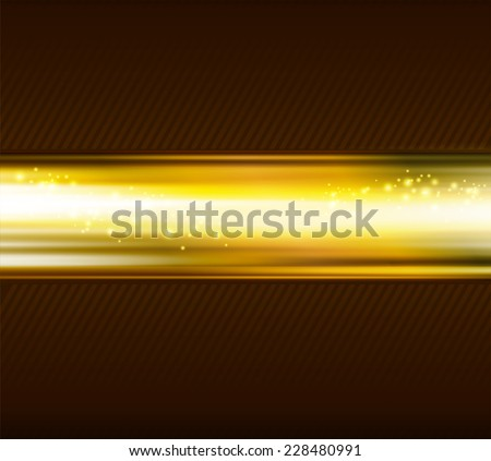 Abstract gold light  line background - stock vector