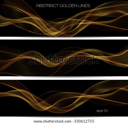 Abstract gold luxury wave layout background. Vector illustration - stock vector