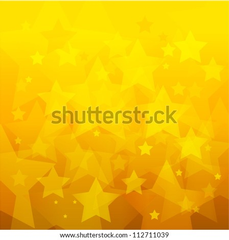 abstract gold star bokeh background - stock vector