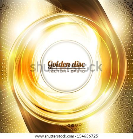 Abstract golden background. Vector - stock vector