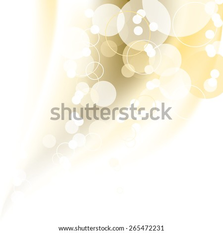Abstract golden background with bubbles. Vector. - stock vector