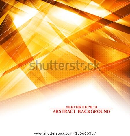 Abstract golden background with lighting effect. Vector - stock vector