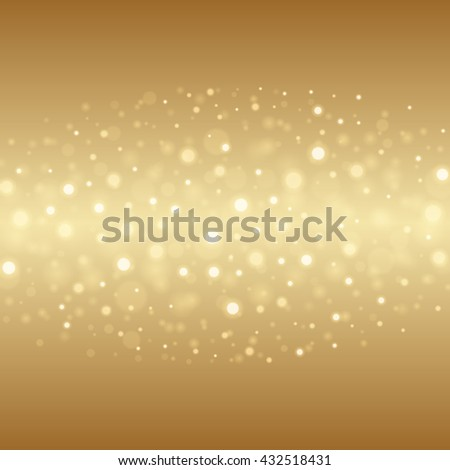 Abstract Golden Light Bokeh Background Vector Illustration. Magic Gold Defocused Glitter Sparkles. Good for promotion materials, Brochures, Banners. Abstract Backdrop. - stock vector
