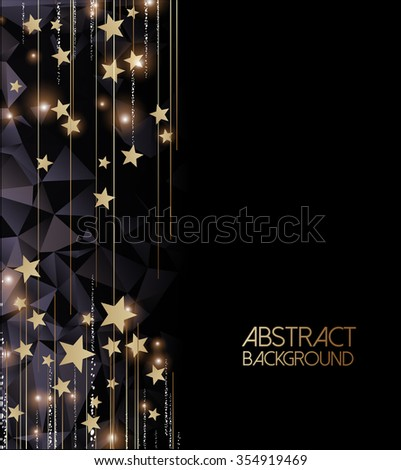 Abstract golden lights Background  - stock vector