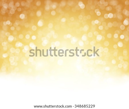 Abstract golden white background with blurry lights that give it a magical feeling as a backdrop for the Christmas season or any festive occasion. - stock vector