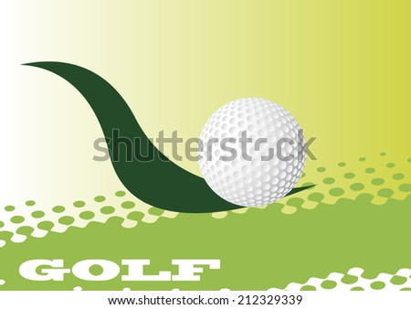 Abstract golf banner