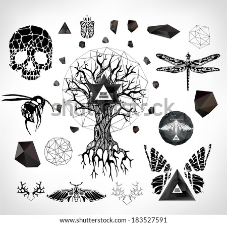 Celtic tattoo stock images royalty free images vectors for Gothic design elements