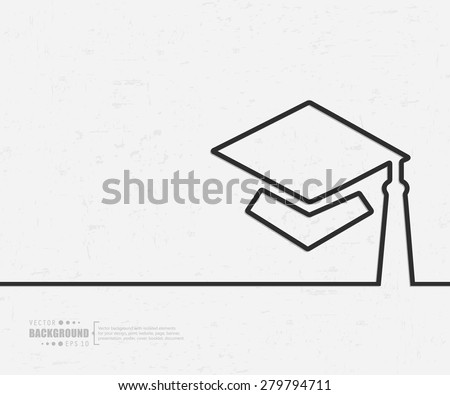 Abstract graduation cap vector background. For web and mobile applications, illustration template design, creative business info graphic, brochure, banner, presentation, concept poster, cover, booklet, document. - stock vector