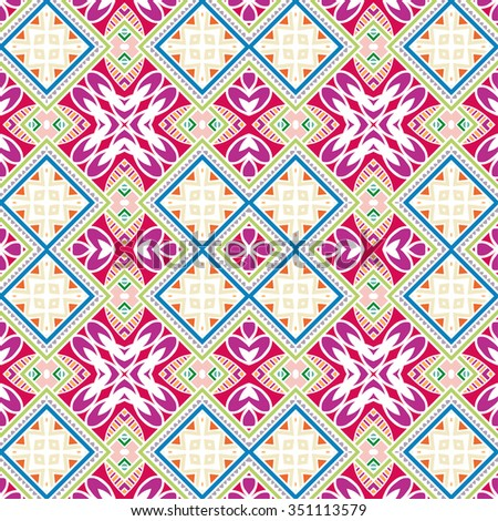 Abstract graphic background, seamless geometric pattern,  tribal ethnic arabic indian ornament. Hand drawn fabric repeating texture.