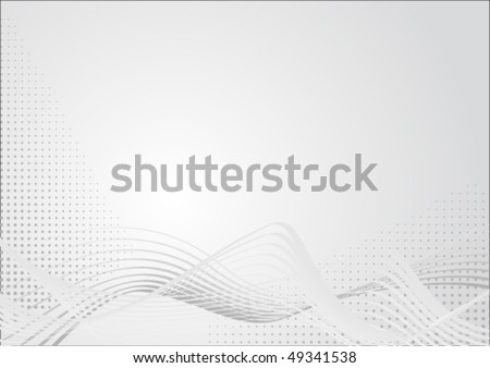 Abstract graphic in light grey colors with curves and raster. Suitable as background for business presentations. - stock vector