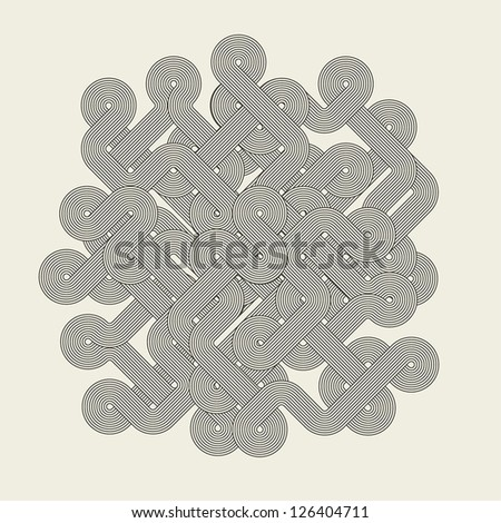 Abstract graphic shape. Vector illustration - stock vector