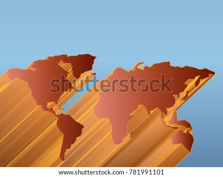 Abstract graphic world map card wallpaper stock vector 781991101 abstract graphic world map card and wallpaper vector illustration paper art and craft style gumiabroncs Choice Image