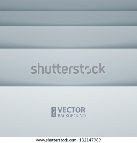 Abstract gray and white rectangle shapes background. RGB EPS 10 vector illustration - stock vector
