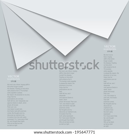 Abstract gray and white triangle shapes vector background - stock vector