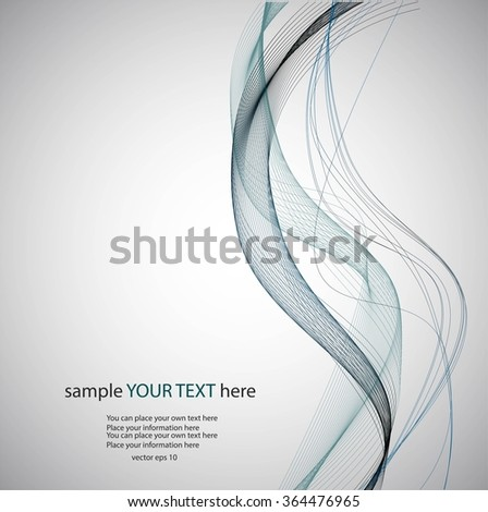 Abstract gray background with lines - stock vector