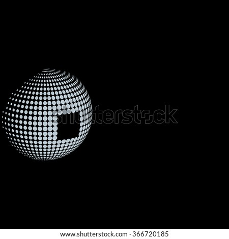 abstract gray dots, black background for your text and logo