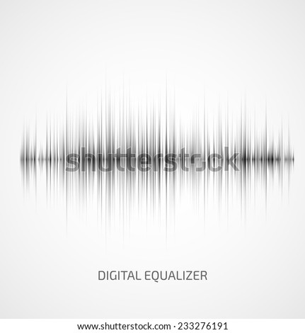 Abstract gray music equalizer on white background. Vector illustration - stock vector