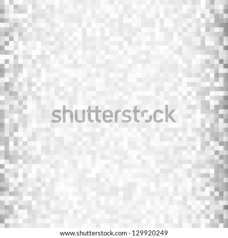 Abstract gray pixel background, vector illustration - stock vector