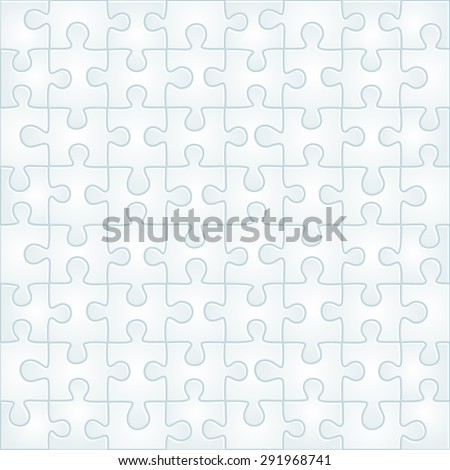 Abstract gray puzzle background template. Vector illustration - stock vector