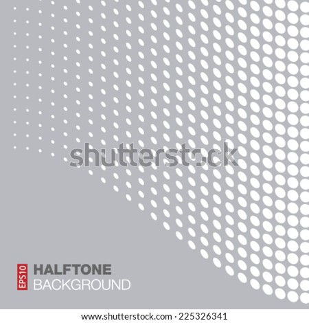 Abstract Gray - White Halftone Background, vector illustration  - stock vector