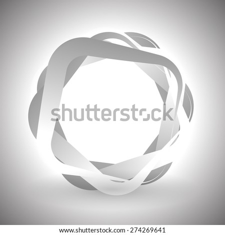 Abstract grayscale graphics. Overlapping squares with rounded corners and transparency. - stock vector