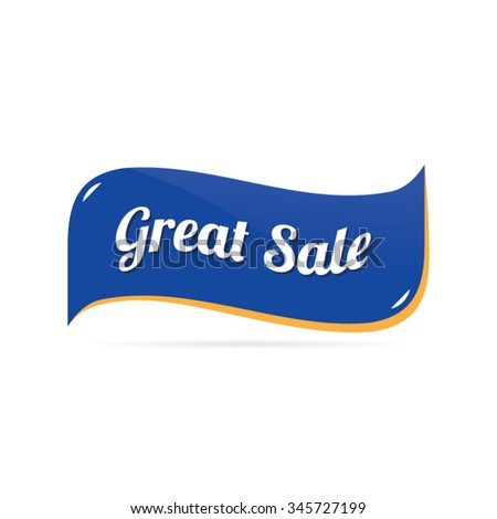 Abstract Great Sale Ribbon - stock vector