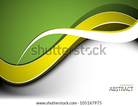 Abstract green background. Clip-art - stock vector