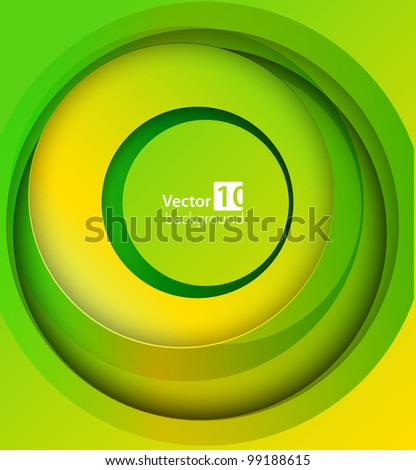 Abstract green background. Vector - stock vector