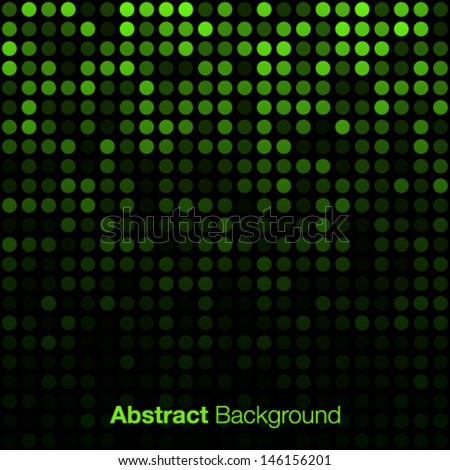Abstract Green Background, vector illustration  - stock vector