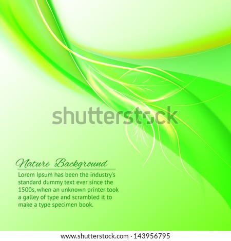 Abstract Green Background. Vector illustration, contains transparencies, gradients and effects.