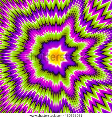 Abstract green background with asymmetric pattern (motion illusion)