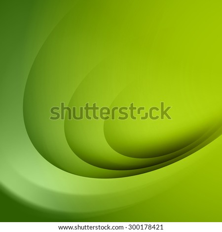 Abstract green background with circle light lines - stock vector