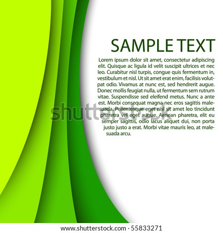 Abstract green background with custom text copy space - stock vector