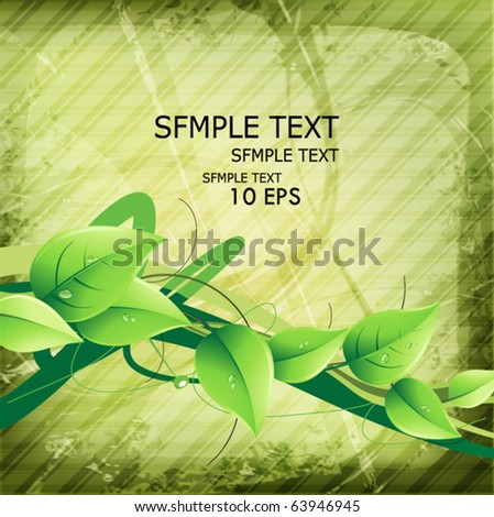 Abstract green background with green leaves.