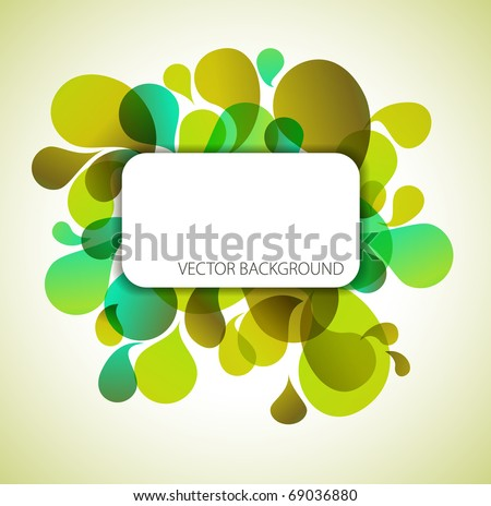 Abstract green background with place for your text - stock vector