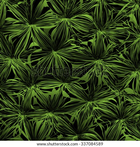 Abstract green background with stylized jungle. Vector EPS10 - stock vector