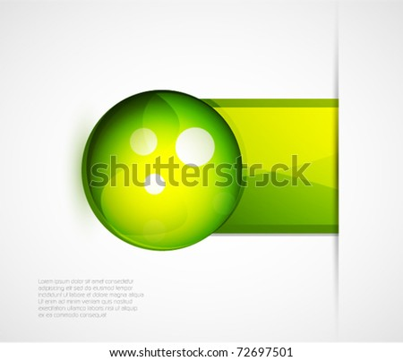 Abstract green circle background
