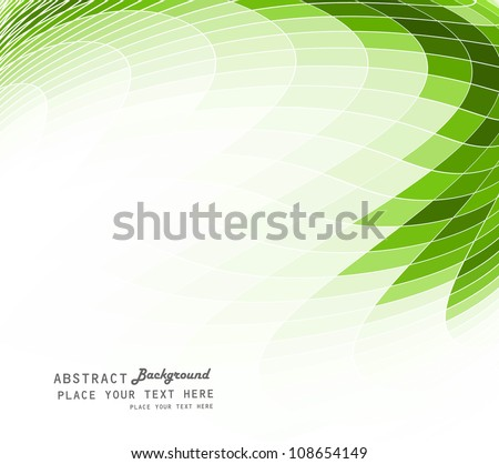 abstract green colorful mosaic background vector  illustration - stock vector