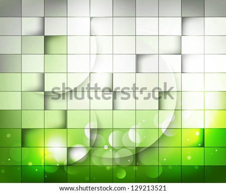 abstract green colorful mosaic texture background  illustration - stock vector